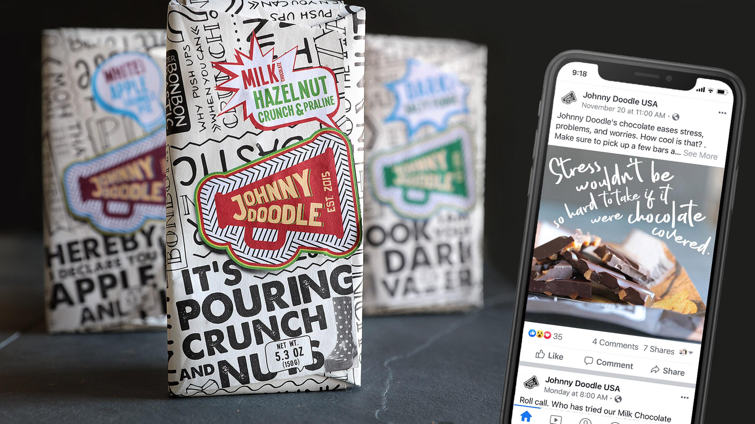Johnny Doodle Chocolate Social Media